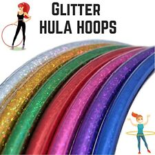 Large Multi Hoola Hoops Children's Adult Fitness Exercise Plastic Glitter Hula