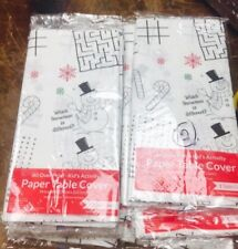 """Creative Converting Paper Kids Activity Table Cover 54 X88"""" White Lot Of 10"""