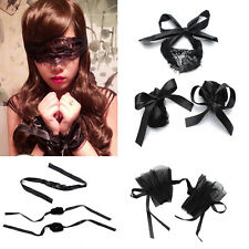 Adult Games Black Lace Handcuffs Blindfold Wrist Eye Masks for Couples Role-play