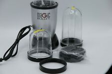 Magic Bullet Blender, Small, Silver, 10 Piece Set - Missing 1 Piece (Lid)