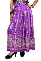 Apparels India Rayon Embroidered Boho Hippie Tribal Gypsy Handwork Long Skirt