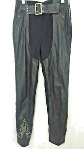 Harley Davidson Women's Leather Riding Pants Size 10