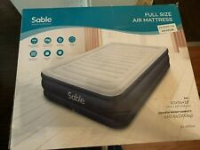 Sable Full Size Air Mattress With Built In Electric Pump. New!