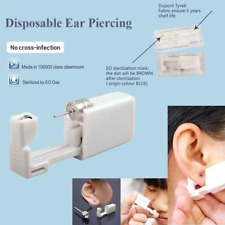 Ear Piercing Kit: 2 x Easy to Use, Disposable Painless & Sterile with CZ Studs