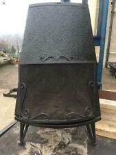 Trolla Free standing Wood buring Norwegian Cast Iron Stove Black Rear Flue Exit