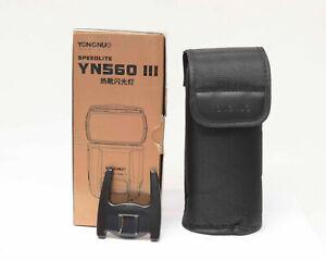 Yongnuo YN560 IIICamera Flash Tasche/Stander/OVP ohne Blitz Nr.659