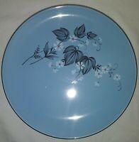Taylor Smith Taylor TST72 Blue Mist Versatile Black Leaf Salad Plates Set Of 7ab