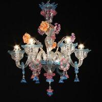 Lampadario in vetro di Murano classico Barcelona  da soffitto chandelier