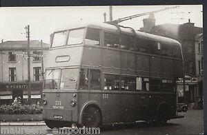 Postcard Size Transport Photograph - Walsall Trolleybus 333 - MB905