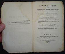 LALLEMAND: Instruction sur l'exercice - manoeuvres de la Garde Nationale / 1815