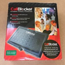 CALL BLOCKER -  COMPLETE PRIVACY PROTECTION BLOCK TELEPHONE COLD CALLS