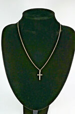 STERLING SILVER -  Crucifix Pendant - ,925 - 18 Inches - 4 Grams