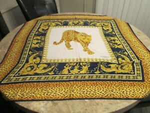 "Hermes Paris France 100% Silk Scarf Leopard Print 35"" x 35"""