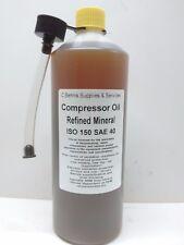 1L  Premium Piston / Rotary Air Compressor / Vacuum Pump Oil ISO 150 SAE 40 OIL