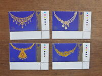 SINGAPORE 2017 WEDDING JEWELLERY SET 4 MINT STAMPS
