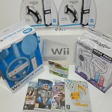 Boxed Wii Console Bundle Starter Package =2  Remotes +Super Mario Sonic Olympics