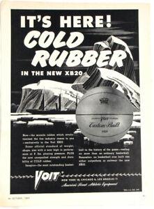 Vintage 1949 VOIT XB 20 Basketball Ball Print Ad