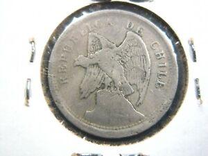 CHILE 20 Centavos 1922 Chilean Andean Condor Bird 104# Money Coin