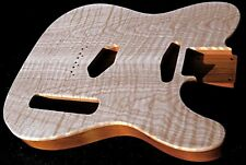 Custom / Flame Maple Telecaster / Alder / Flamed Tele Guitar Body / Unfinished