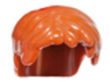 LEGO Ninjago™ Jay Hair Piece - Dark Orange Hair Short Tousled with Side Part