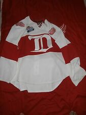 2009 GAME ISSUED DETROIT RED WINGS WINTER CLASSIC JERSEY-DARREN HELM-43-MEIGRAY