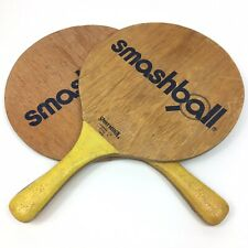 Smashball Sport Design 2 Wooden Paddles Good Used Condition