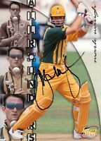 ✺Signed✺ 1995 1996 AUSTRALIA Cricket Card MARK WAUGH All Rounders