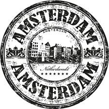 "Amsterdam City Netherlands Europe Travel Car Bumper Sticker Decal 5"" x 5"""