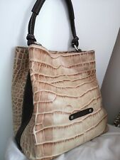 Puntotres Leather Bag Crocodile made in Spain designer handbag
