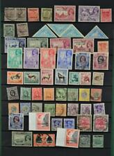 BRITISH COLONIES & COMMONWEALTH STAMPS SELECTION ON 2 SIDES  STOCK CARD   (F90)