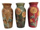 Sunflower Vase Raised Ceramic 8.25