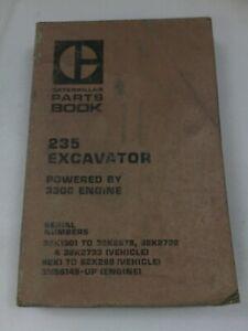 Caterpillar 235 excavator parts manual. Genuine Cat book.