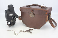 Bell & Howell Filmo 70A 16mm Cine Camera w Case & Key for PARTS OR REPAIR V17