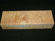 """Curly Maple Lumber Block Carving Craft Art Knife Call 11"""" Aaaa"""