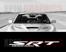 "SRT AM Windshield Banner Decal 40"" Dodge Chrysler Mopar Jeep SRT8 Challenger"