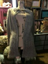 THE SWEATER COLLECTION Fabulous Heather Gray Mohair Wool Sweater Size S