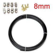 8mm 10Meter Kraftstoffleitung Stahl Polyamidrohr Benzinleitung Reparatur Set
