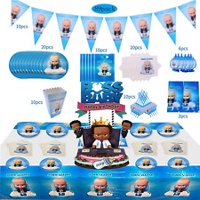 89 PCS Baby Boss Party Supplies for Boys Baby Boss Birthday Decorations Includes