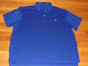 RALPH LAUREN PERFORMANCE SHORT SLEEVE BLUE POLO SHIRT MENS 3XL EXCELLENT