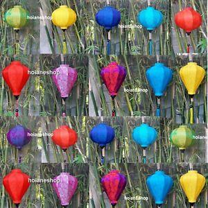 Set 20 pcs of 35cm Vietnam silk lanterns for Wedding party decoration