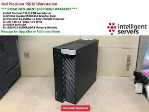 Dell T5610 Workstation, 2x E5-2690 V2, 128GB, 500GB SSD, 1TB HDD, Quadro K5000