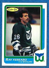 1986-87 O-Pee-Chee (Blank Back) #160 RAY FERRARO ex-mt Hartford Whalers Rookie