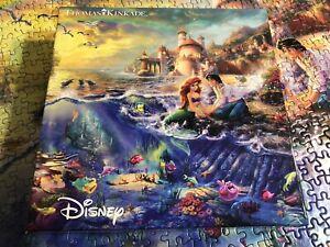 750 Piece Little Mermaid Disney Thomas Kinkade Puzzle
