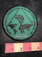 IFBBA BLACK BASS ANGLERS FEDERATION Fishing / Fisherman Patch 92H3
