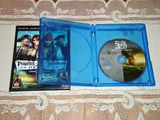 MINT Pirates of the Caribbean On Stranger Tides 3D Blu-ray with Case + Slipcover