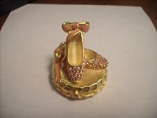 "Estee Lauder Solid Perfume Compact ""Ballet Slippers"" Original Box!"