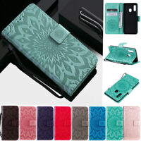Sunflowers Wallet Leather Flip Case Cover For Huawei Y7 2019 Y9 Prime Honor 9X