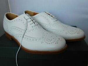 Church's Ladies Burwood Studded White Lace Up Brogue Shoe UK Size 4 / EU 36.5