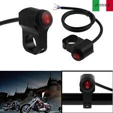 """12V 7/8"""" Nero Interruttore fari impermeabile per Moto Con indicatore luminoso"""