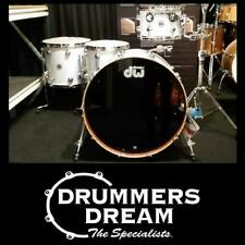 """DW Collectors Maple/Mahogany 4 Piece Drum Kit 24"""" Shell Set - White Glass"""